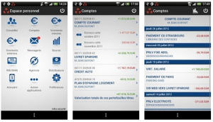 application mobile banque