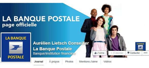 banque postale sur facebook