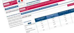 tarif banque public