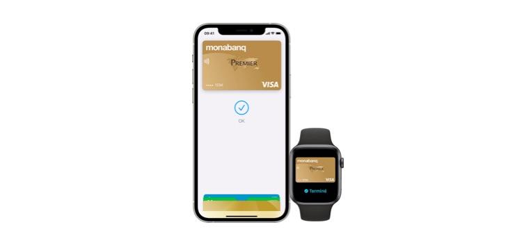 payer avec iPhone monabanq